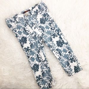 7 for all mankind- Floral Skinny Jeans size: 12m